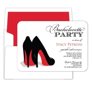 Red Shoe Bachelorette Party Invitation