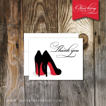 High Heel Thank You Note