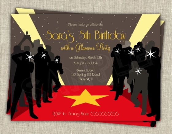 Hollywood Themed Invites was amazing invitations layout