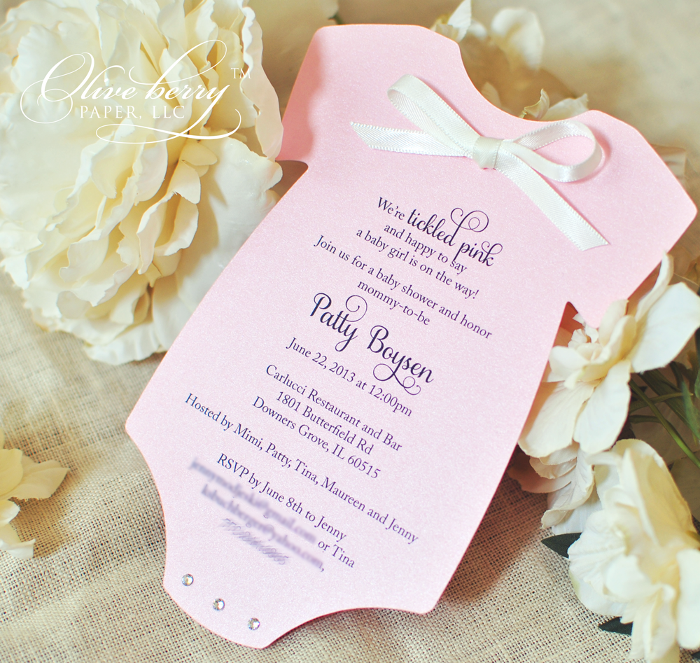 onesie baby shower invitation