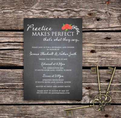 charming chalkboard rehearsal dinner invitations olive berry paper